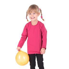 Ružové detské tričko dlhý rukáv Marlen od 98-116