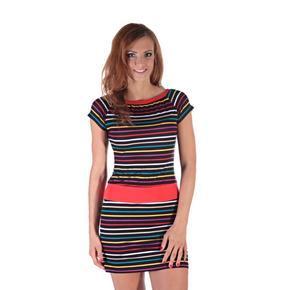 Veselé pruhované šaty Leon
