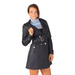 Moderné koženkový kabát Dasty