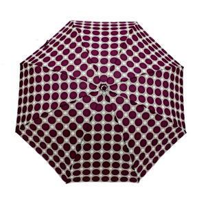 Skladací mini dáždnik Puntík fialový