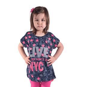 Dievčenské letné tričko s hvězdičkama Star modré