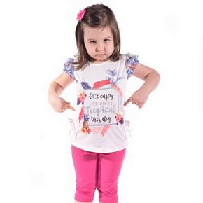 Dievčenské moderné letné tričko Mali