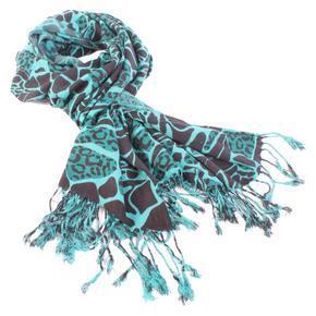 Šíroký zelený šátek Nena