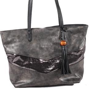 Dámska moderné kabelka Metal čierna