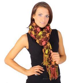 Moderní zimní šátek Mett žlutý