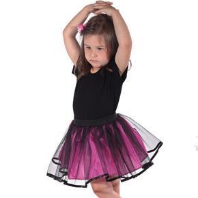 Dívčí tylová tutu sukně Nesy tmavě růžová