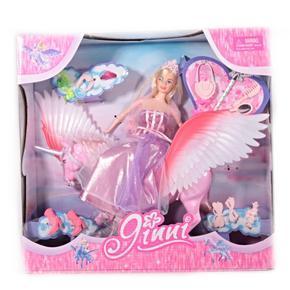 Panenka Jinny s koněm v růžové barvě