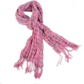 Kostkovaný šátek Lott světle růžový D7