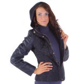 Moderná čierna bunda Angela