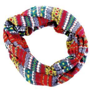 Vzorovaný úpletový šátek Pegy žlutý