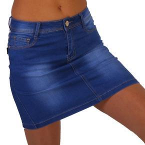 Riflová sukňa RiccE modrá