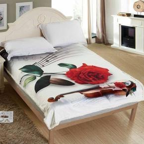 Beránková deka s 3D efektom Ruže