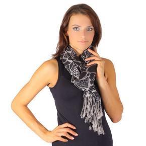 Černý trendy šátek Nena