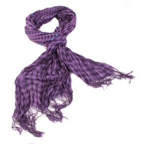 Fialový kostkovaný šátek Lott