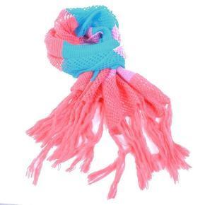 Pletená zimní šála Irina růžová