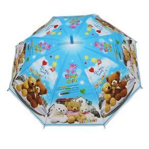 Dětský vystřelovací deštník Bear modrý