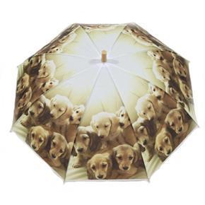 Dětský vystřelovací deštník Oliver hnědý