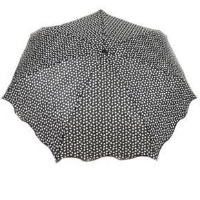 Skládací černý mini deštník Love