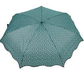Skládací zelený mini deštník Love