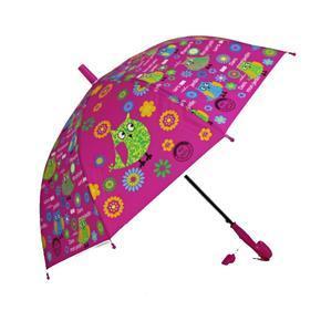 Dětský vystřelovací deštník Anabela tm. růžový