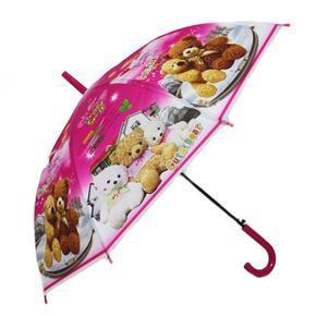 Dětský vystřelovací deštník Bear růžový