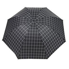 Kostkovaný skládací deštník Bady černý