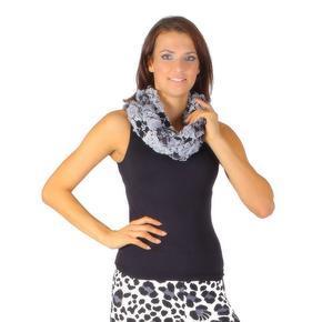 Tunelový šátek Melissa černý