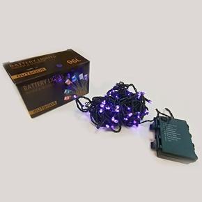 Vánoční světelný řetěz 10 metrů Dora fialový