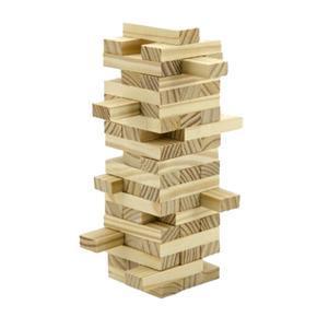 Hra Jenga dřevěné kostičky 48ks Lery
