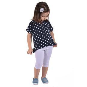 Dívčí tričko s puntíky a krajkou Mia