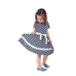 Dívčí letní puntikaté šaty Tina