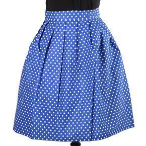 Puntikatá modrá zavinovací sukně Merisa