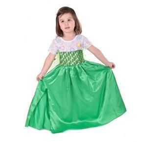 Karnevalový kostým princezna Elsa zelený