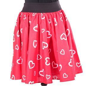 Dámská červená kolová sukně Patricie