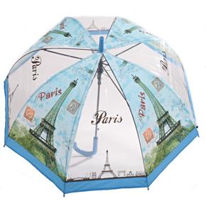 Priehľadný dámsky dáždnik Dean svetlo modrý