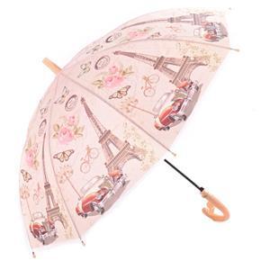 Dětský vystřelovací deštník Brenda meruňkový