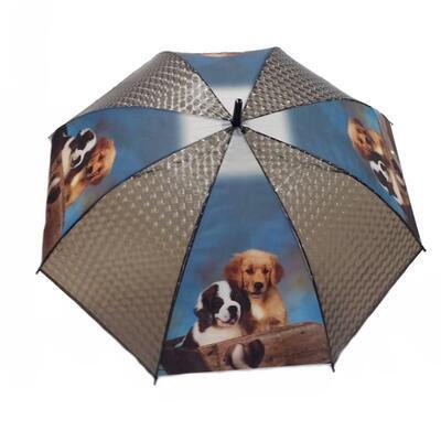 Vystřelovací deštník Puppy černý - 1