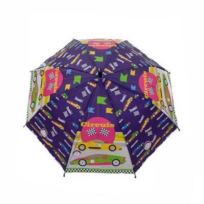 Dětský vystřelovací deštník Tomáš fialový - 1