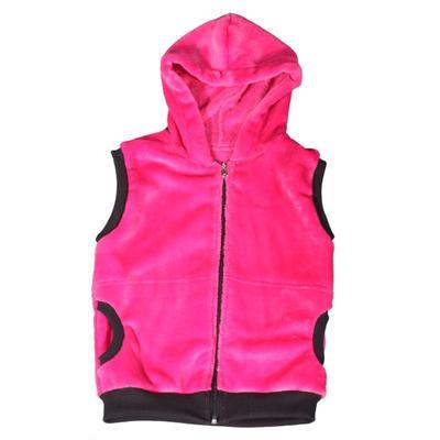 Hřejivá dětská vesta s kapucí Lionela růžová