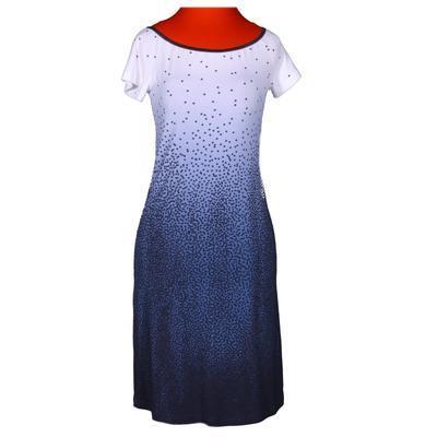 Modré šaty Melody s potiskem - 1