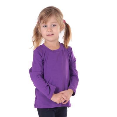 Dětské tričko dlouhý rukáv Marlen fialové od 122-152 - 1