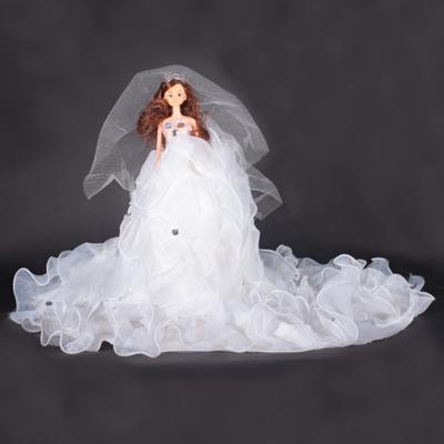 Dekorativní panenka Melody bílá