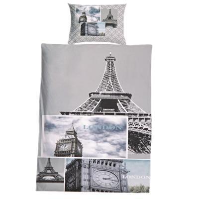 3D dvojlôžkové obliečky s motívom Paríža