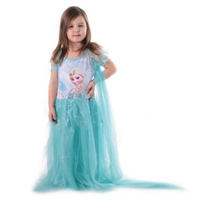 Karnevalový kostým princezna Elsa tyrkysový - 1