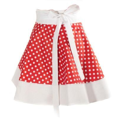 Červená zavinovací sukně Lili s puntíky - 1
