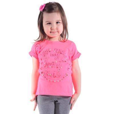 Neónovo ružové tričko Love - 1