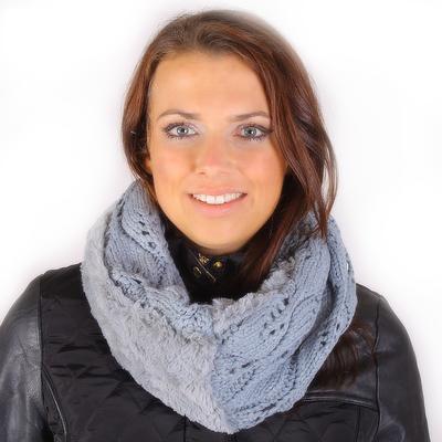 Módní dámský nákrčník Becky šedý - 1