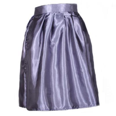 Tmavě šedá saténová zavinovací sukně Victorie - 1