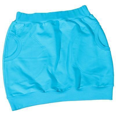 Modrá bavlněná sukně Dominika - 1