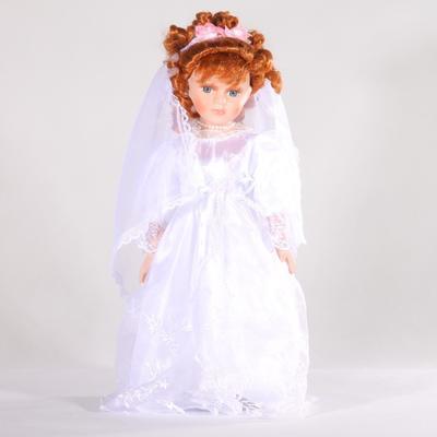 DOLL porcelánová panenka nevěsta Luren 40 cm